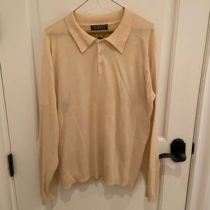 Pale Yellow long Sleeve 1/4 Button Down